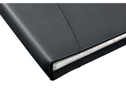 Rexel Display Book Soft Touch 24 Pockets A4 Black Ref 2101185