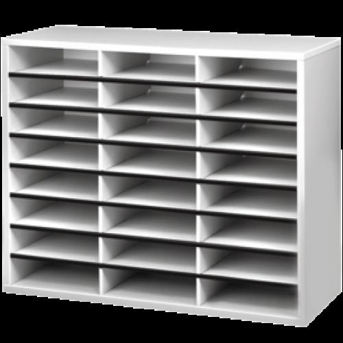 Fellowes 24 Compartment Literature Sorter A4 Dove Grey 25041