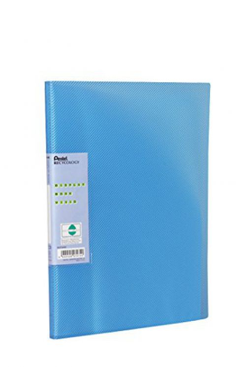 Pentel Recycology Vivid A4 Display Book 30 Pockets Blue PK10