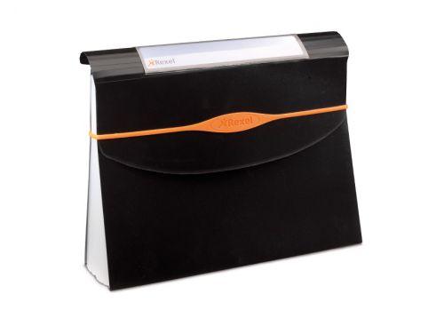 Rexel Optima Expanding Organiser File Polypropylene 13-Part A4 Black Ref 2102483