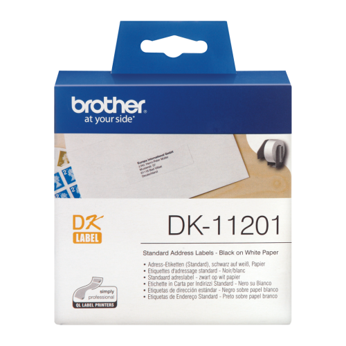 Brother DK11201 Address Label Roll 29mmx90mm 400