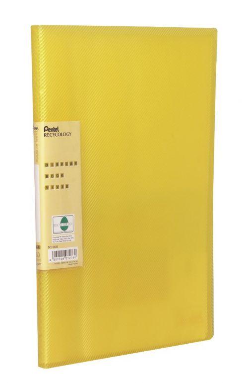 Pentel Recycology Vivid A4 Display Book 30Pocket Yellow PK10