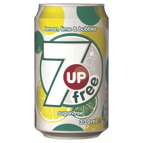 7up Diet 330ml Cans (Pack 24)