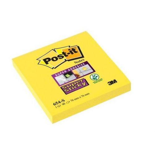 Post-it Super Sticky 76x76mm Daffodil Yellow PK12