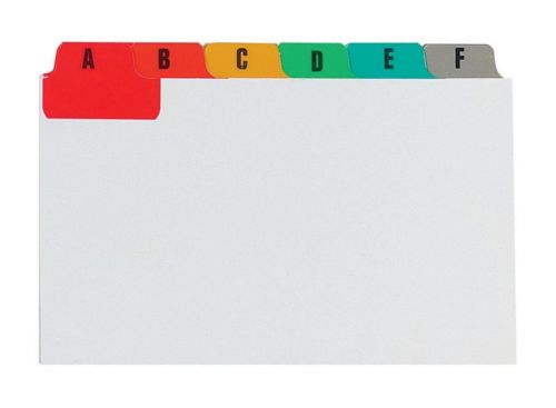 Concord Guide Cards A-Z 127x76mm White with Multicol Tabs