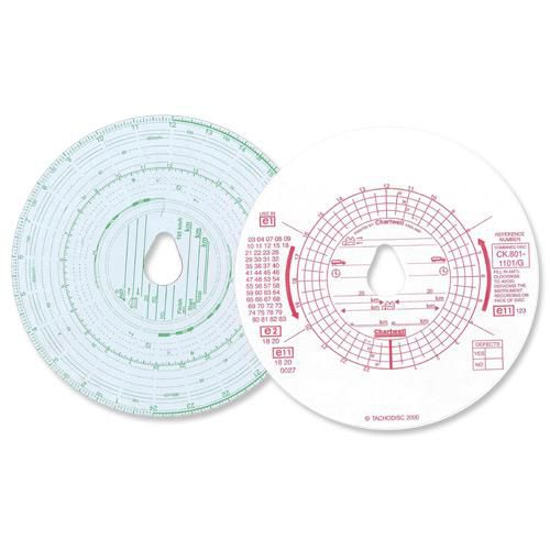 Image for Chartwell Tachograph Discs Kienzle Dual CK801/1101GZ