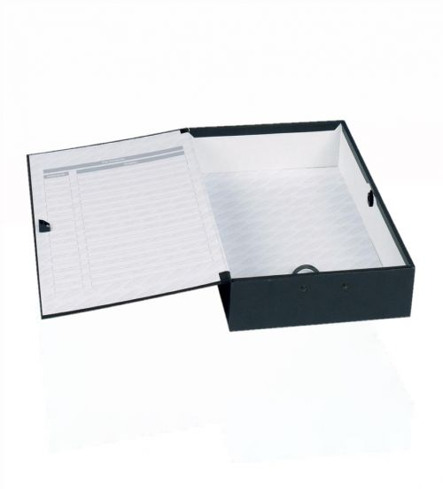 Image for Concord Classic Box File Foolscap Black PK5