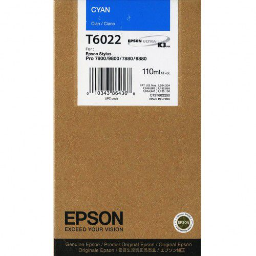 Epson Stylus Pro 7800/9800 Cyan 110ml