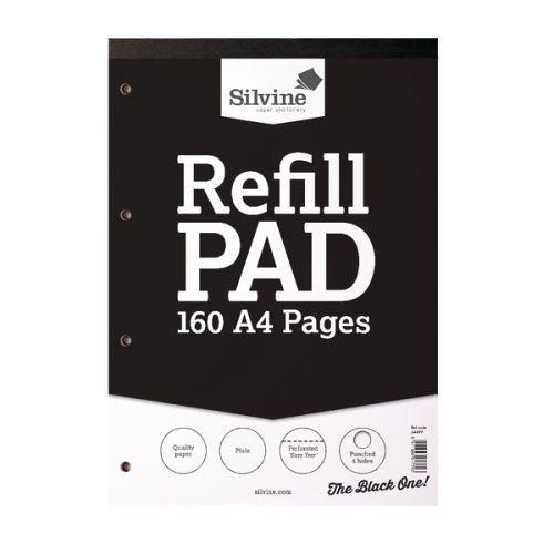 Silvine A4 Refill Pad Plain PK6