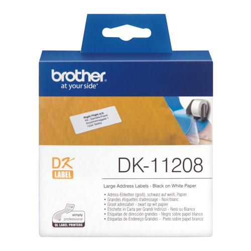 Brother DK11208 Large Address Label Roll 38mmx90mm 400