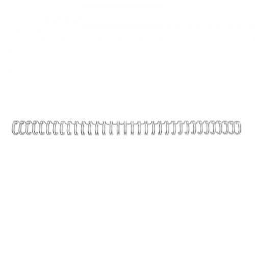 GBC WireBind 34 Loop Wire Element No8 12.5mm A4 Silver PK100