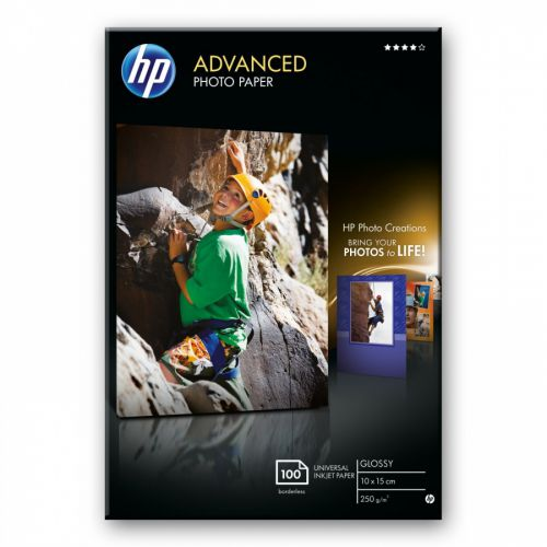 HP Advanced Glossy Photo Paper 250G 10X15Cm PK100