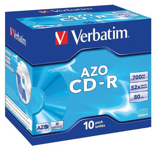 Verbatim CDR Crystal 700MB Box of 10