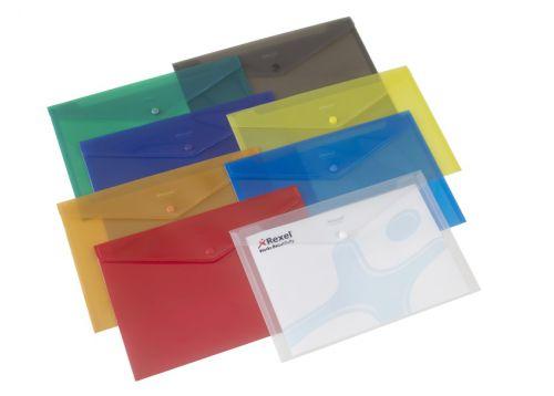 Rexel Popper Wallet Folder Polypropylene A4 Translucent White Ref 16129 [Pack 5]