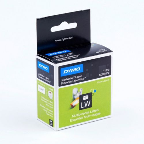 Dymo LabelWriter Multi-purpose Labels White Removable 13x25