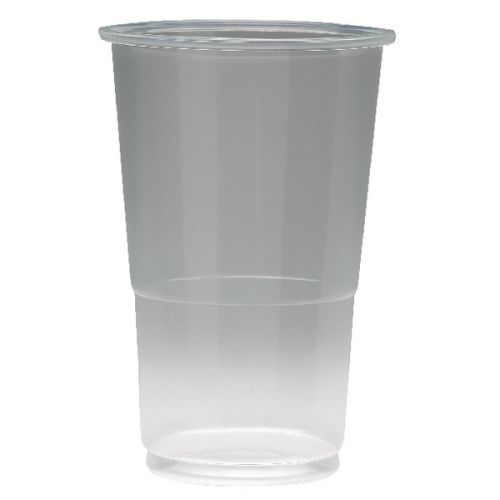 Value Flexiglass 1/2 Pint Clear Plastic Glass (Pack 50)