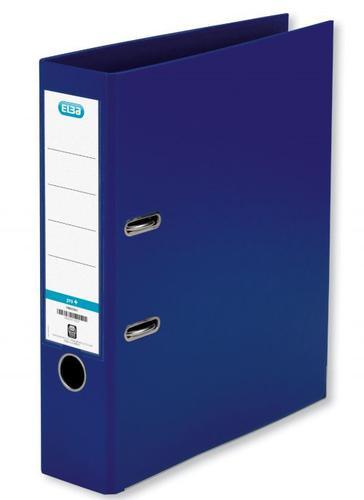 Elba A4 Lever Arch File PVC 70mm Spine Width Blue