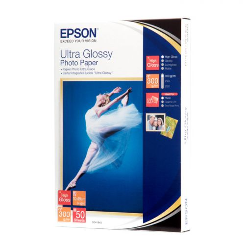Epson C13S041943 Ultra Glossy Photo Paper 10x15cm 50 Sheets