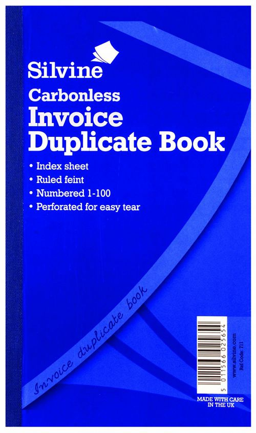 Silvine Carbonless Duplicate Memo Book Ruled 81/4x5in PK6