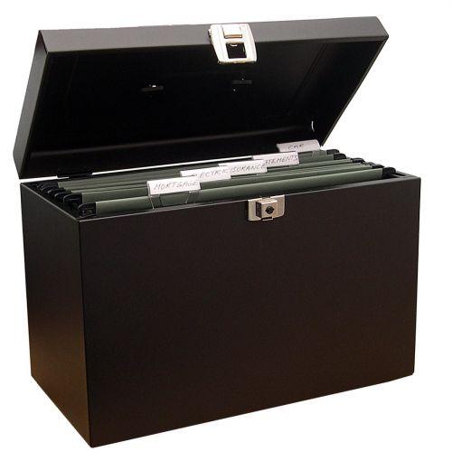 ValueX Cathedral Metal File Box Foolscap Black