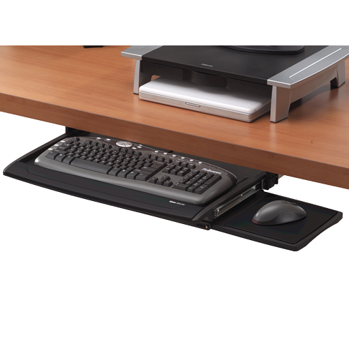 Fellowes Office Suites Deluxe Keyboard Drawer Black/Silver