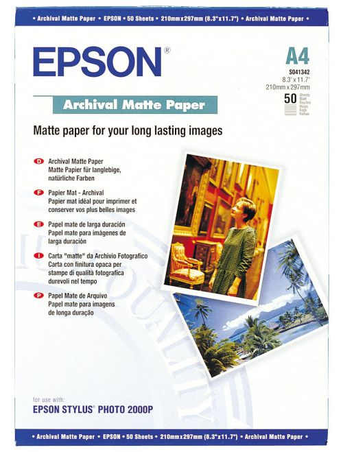Epson A4 Archival Matte Paper Pack Pk50