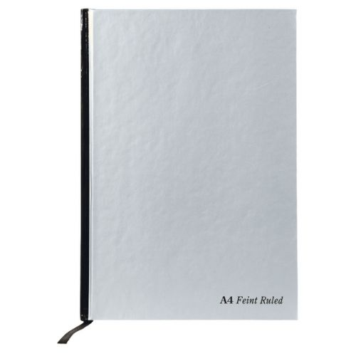 Pukka Pad A4 Book Casebound Ruled 192 Page Silver PK5