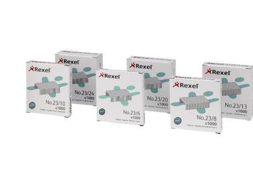 Rexel No.23 23/8 Staples Steel Ref 2101054 [Pack 1000]