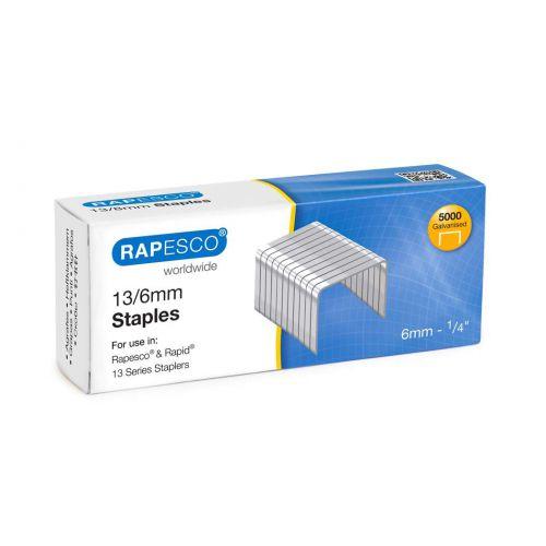 Rapesco 13/6mm Galvanised Staples PK5000