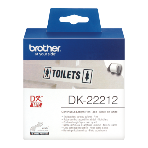 Brother DK22212 White Film Roll 62mmx15m
