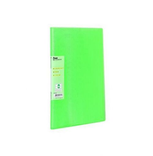 Pentel Recycology Vivid A4 Display Book 30Pockets Green PK10
