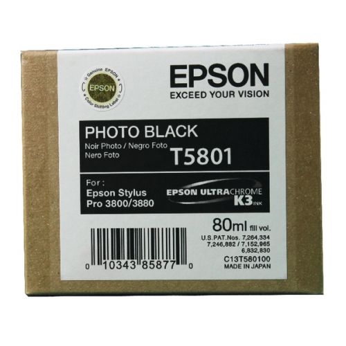 Epson C13T580100 T5801 Black Ink 80ml