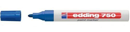 Edding 750 Paint Marker Bullet Tip 2-4mm Line Blue (Pack 10)