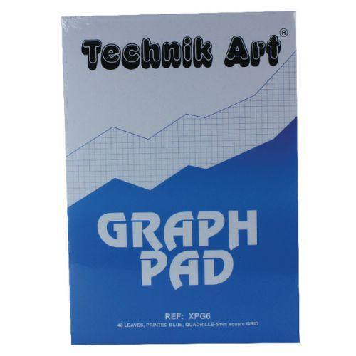 Technik Art Graph Pad A4 5mm Quadrille XPG6Z