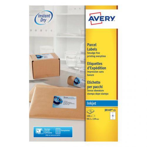 Avery Inkjet Addressing Labels 99x139mm J8169-25 (100Labels)