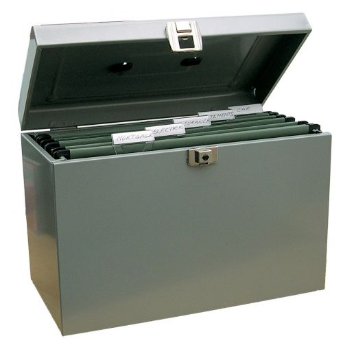 Value Cathedral Metal File Box A4 Grey
