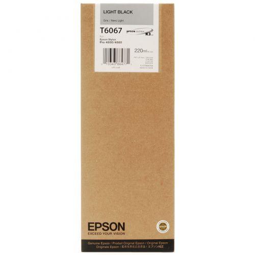 Epson C13T606700 T6067 Light Black Ink 220ml