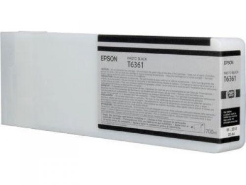 Epson C13T636100 T6361 Black Ink 700ml