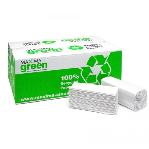 Maxima Green 2Ply C Fold Hand Towel White (157 Sheets) PK15