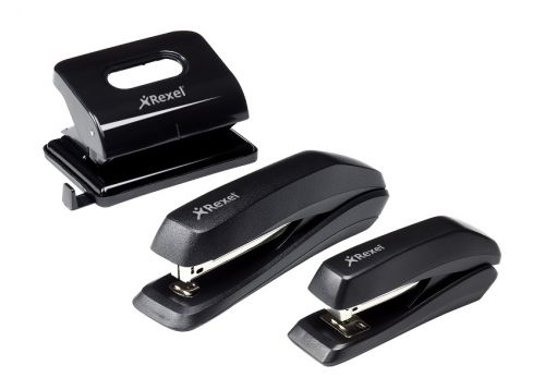 Rexel Ecodesk Stapler Full Strip Throat 75mm Black Ref 2100026