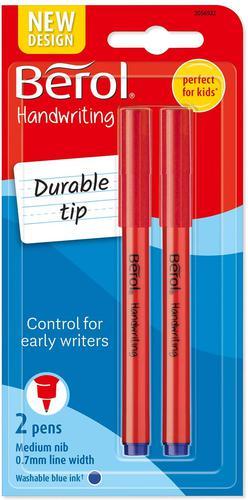 Berol Handwriting Pen Blue PK2