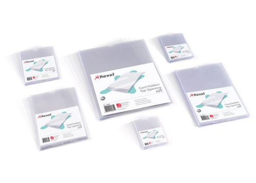 Rexel Card Holder Nyrex Open on Short Edge 152x102mm Ref 12030 [Pack 25]