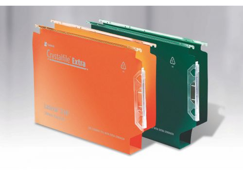 Crystalfile Extra Lateral 330 30mm Capacity Orange BX25