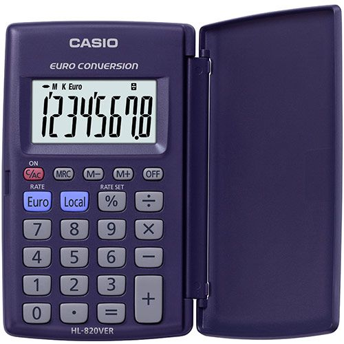 Image for Casio HL-820VER 8-Digit Pocket Calculator with Case