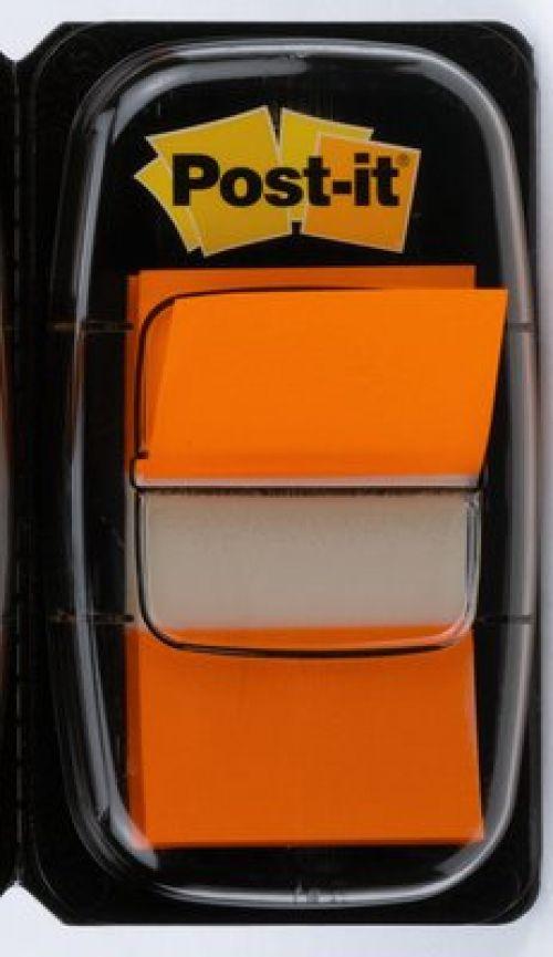 Post-it Index Tab 25mm Orange Pk12