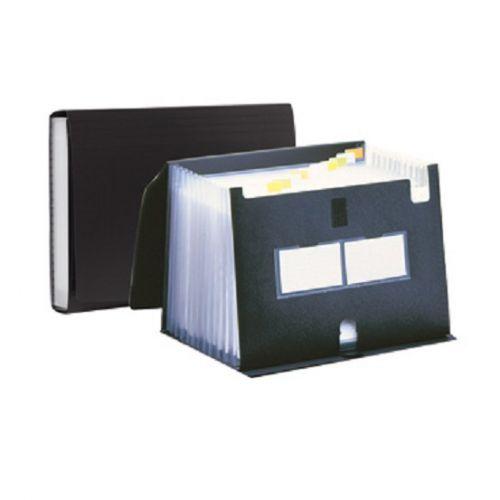 Pentel Polypropylene Expanding File 13 Pockets Black