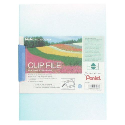 Pentel Recycology Clip File A4 Blue (Pack 10)