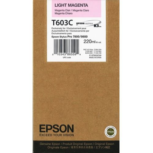 Epson C13T603C00 T603C Light Magenta Ink 220ml