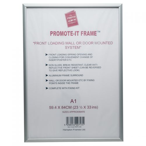 Image for A1 Snap Frame Aluminium Front Loading Silver PAPFA1B