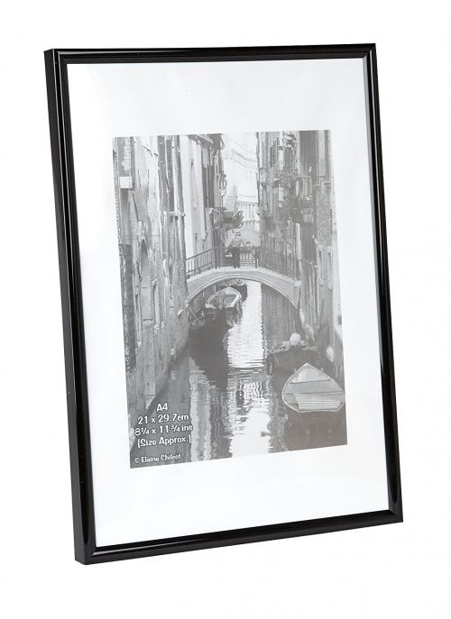 Photo Album Co A4 Certificate Frame Plastic Black